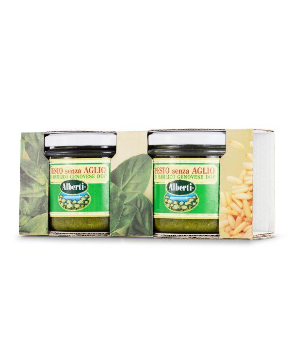 pesto di basilico senza aglio dop 2pack