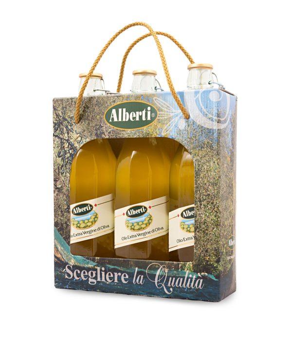 tris olio extravergine di oliva