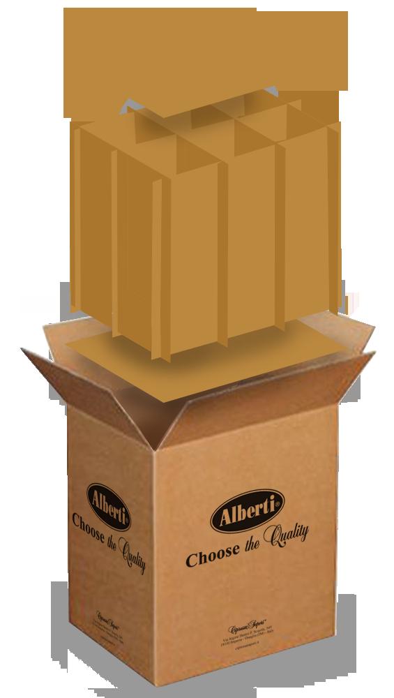scatola bottiglie